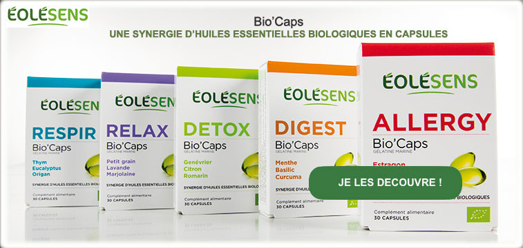 Capsules d'huiles essentielles Eolesens BioCaps