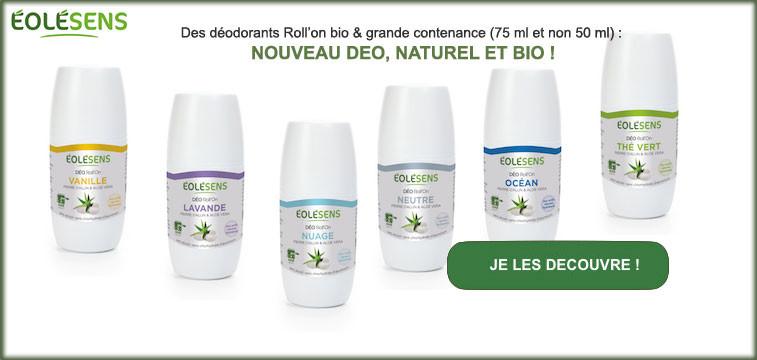 Nouveaux déodorants roll'on bio et naturels Eolesens